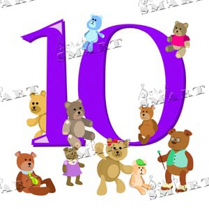 purple  number 10