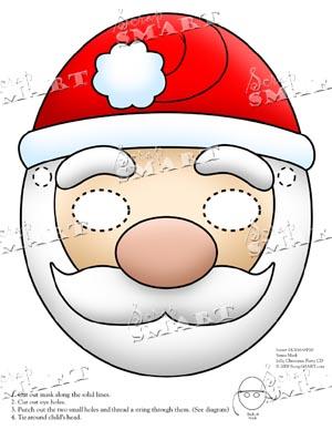 ScrapSMART Christmas Mask  Santa  Downloadable