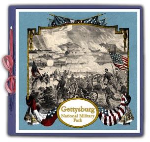 Scrapsmart Civil War Eagle Amp Flag Scrapbook Album 12 Quot X 12 Quot