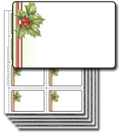 scrapsmart 40 christmas name badges 01 holly