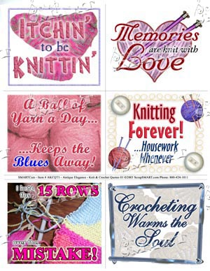 ScrapSMART: Knit & Crochet Quotes 01